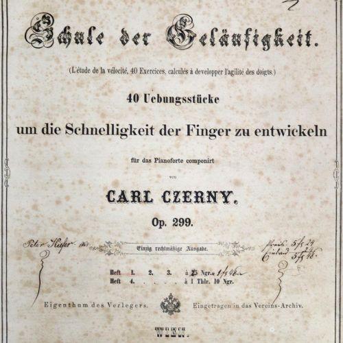 Sammelband 有50首乐曲,大部分是为钢琴演奏的舞蹈或序曲,大部分是石印的,部分是GEST。一些带有插图的石版画标题页,约1870年,4°。当时的装订方…