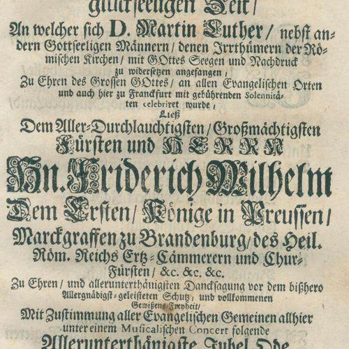 Bartholdi,J.F. 当在1717年10月31日。圣洁的黎明,在这神圣的时间,D.马丁 路德...开始在上帝的祝福和强调下反对罗马教会的错误....。在…