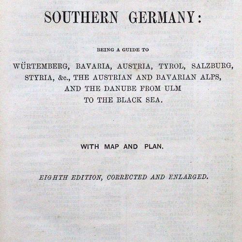 Murray,J. Un manuel pour les voyageurs dans le sud de l'Allemagne.... 8e édition…
