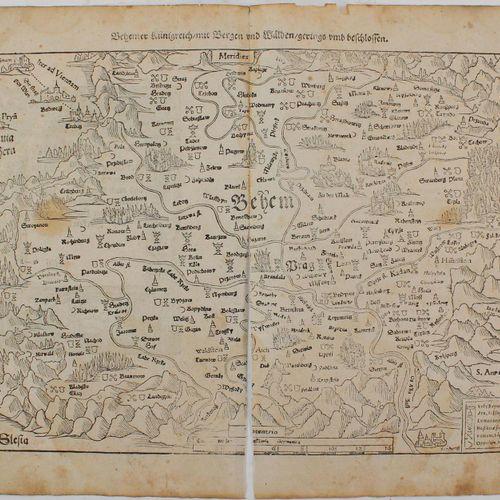Münster,S. 收集了98张来自《宇宙论》(德国版)的叶子,16世纪,对开本,有许多木刻。 在现有的木刻画中。索洛图恩(dplblgr.),克里特岛地图,…