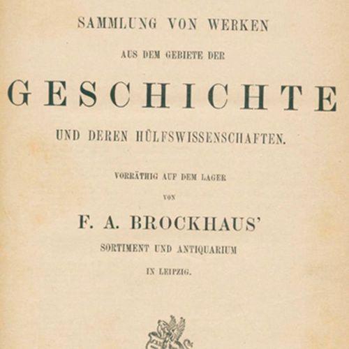 Brockhaus,F.A. Bibliotheca historica.Verzeichniss einer Sammlung von Werken aus …