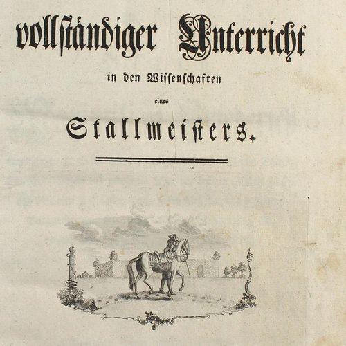 Sind,(J.B.).V. 在一个稳定的大师的科学中得到完整的指导。Göttingen & Gotha, Dieterich 1770.有大型的正面肖像画,标…