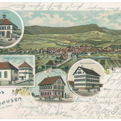Sammlung d'environ 350 cartes postales et cartes illustrées (la plupart portant …