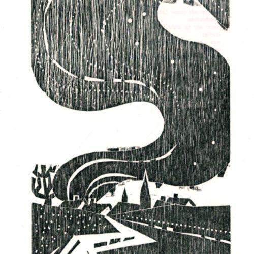 Grabert,S. 瓶子里的信息。诗歌。豪森伯格,Pongratz版 1986年。阿尔弗雷德 波尔的3幅木刻作品,均有签名。12对开。奥布罗什。 (= Ed.…