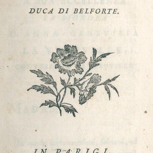 Gennaro,A.Di. Omaggio poetico. Paris, Lambert 1768. Avec vignette gravée sur boi…