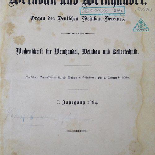 Organ de l'Association des vignerons allemands. Journal hebdomadaire pour le com…