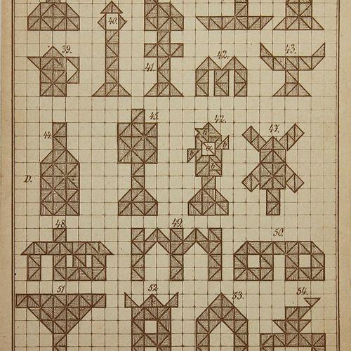 Froebel,F. 建设的模板。根据弗罗贝尔的说法,这是一种娱乐性的职业。收集了47个模板和2个折叠的文本页。来自不同系列的文本表。系列,(Bln. C. 1…