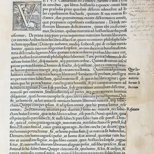 Nifo,A. Expositiones in omnes Aristotelis libros De Historia animalium libri IX,…