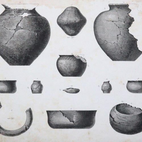 Vischer,W. 描述巴塞尔附近的一些墓冢。苏黎世,Meyer u. Zeller 1842年,4页。附有3幅石印版画。16页。临时公告。 (= Zeits…
