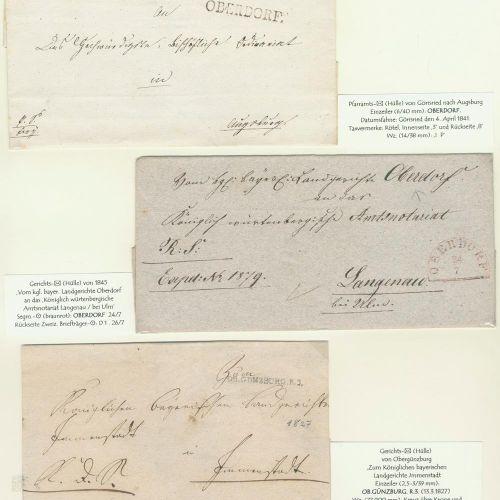 Vorphilatelie. Collection de 73 pièces (70x 19ème s., 3x 18ème s.) Bavière. Dans…