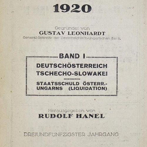 Compass. Annuaire financier. Jgge. 53, 55 (2x), 60, 62 (2x) en 7 volumes. Vienne…