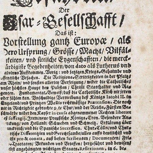 Für das Vatter Land des Bayrischen Löwens, 忠实的伙伴,伊萨尔协会。6 inst. In 1 vols.O.O.U.D…