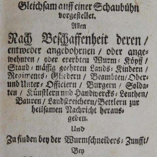 Callenbach,F. Collection de 8 œuvres. O.O. Ou simulé vers 1715. (frottements, co…