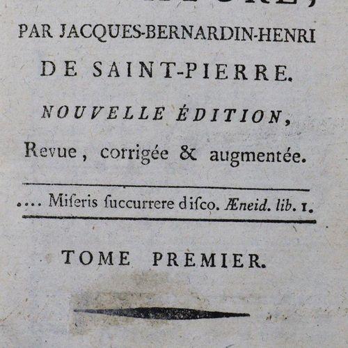 Bernardin de Saint Pierre,J. H. Études de la nature. Nouvelle édition. 7 vols. P…
