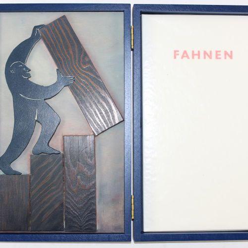 Raasch,K. Drapeaux. Une vitrine avec un bloc d'impression et 11 tirages originau…