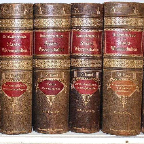 Handwörterbuch der Staatswissenschaften. J. Conrad, L. Elster, A. Weber a. F. Wi…