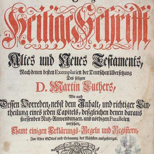 Biblia germanica. 圣经,即:整个新旧约圣经。正如作者所写的...马丁 路德...茨维考,霍夫(1737)。Fol.有了GEST。正面16页,8…