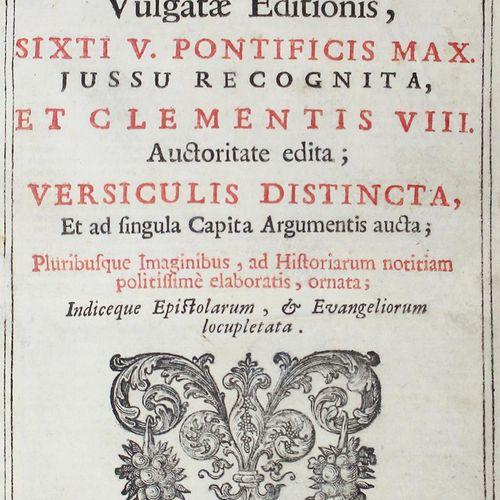 BIBLIA LATINA. 圣经》。Vulgata Editionis sixti V. Pontificis max. Iussu recognita, e…