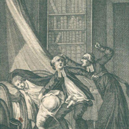 (Andrea de Nerciat,A. R.). 菲利西娅或我的弗雷戴斯。4卷。隆德(约1780/90)。有23个(而不是24个)盖特。板块。镶有鎏金丝。(…