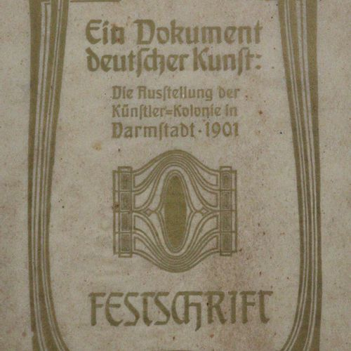 Dokument deutscher Kunst, Ein. 1901年达姆施塔特艺术家殖民地的展览。Mchn.,Bruckmann(1901)。4°.有孔雀。…