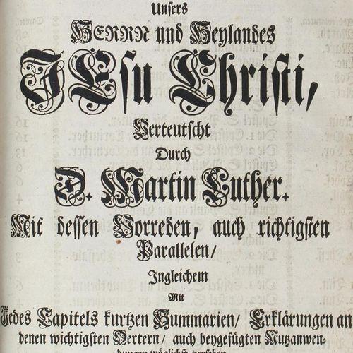 Biblia germanica. Biblia, c'est à dire : l'ensemble des Saintes Écritures. Schri…