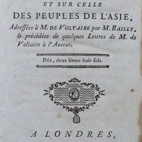 Bailly,(J.S.). Lettres sur l'origin des sciences, et sur celle des peuples de l'…