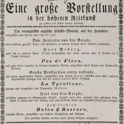 Cirque Olimpique. 对高级马术的一个很好的介绍。约1830年,小对开。 R