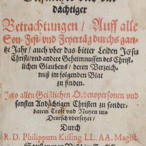 Busaeus,J. 全年所有星期日、节日和节庆日的灵性和奉献观察手册》....其中的清单可以在下面的叶子中找到。科隆,Hennings 1620。8页,642…
