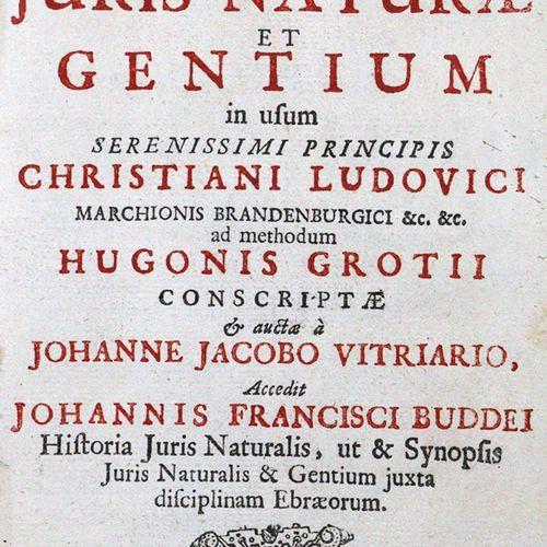 Vitriarius,P.R. Institutiones Juris Naturae et Gentium in usum...Ad methodum Hug…