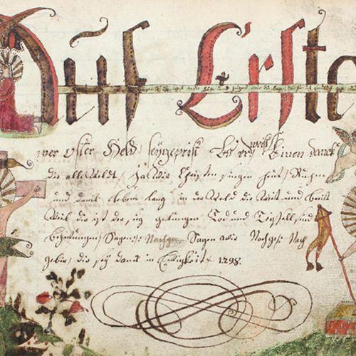 GESANGBUCH. Fragment. Manuscrit allemand sur papier par Johann Gottlieb Hem(m)pe…