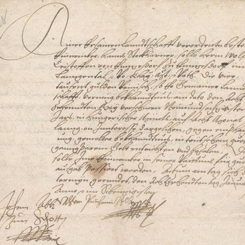 Enzersdorf im Thale. 关于偿还农村指定收藏家Hanns Stockharmer向Wolf Christoph von Ennzesdorf(…