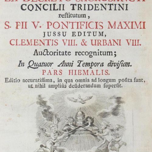 BREVIARIUM ROMANUM ex decreto SS.Concilii Tridentini restitutum, S. Pii Pontific…