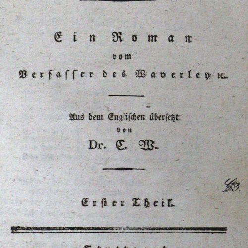 Scott,W. Travaux. Nombreuses parties en 47 volumes. Stgt., Franckh 1826 ff. Kl.8…