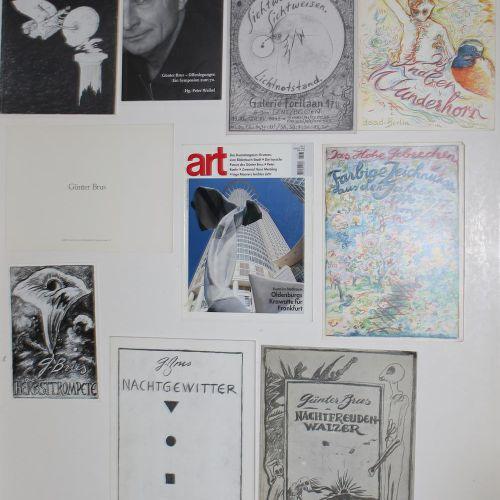 Brus,G. Collection de 10 catalogues sur Günter Brus. Divers. Formats. Obrosch.