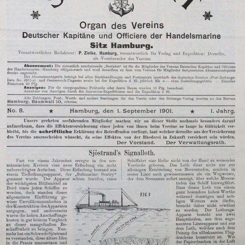 Seefahrt. Organ des Vereins Deutscher Kapitäne und Officiere der Handelsmarine. …