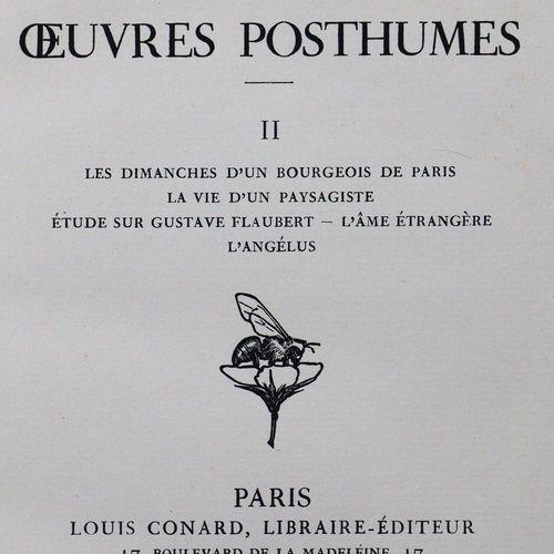 Maupassant,G.De. Oeuvres complètes. 29 vols. Paris, Conard 1908 28. Avec 1 rad. …