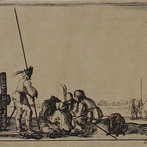 Bella, Stefano della (1610 Florence 1664). Dessins de quelques conduites de trou…