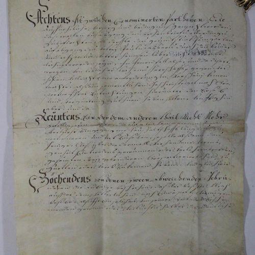 Konvolut de 10 (1 incomplet) documents du Tyrol. Manuscrits sur parchemin (9) et…