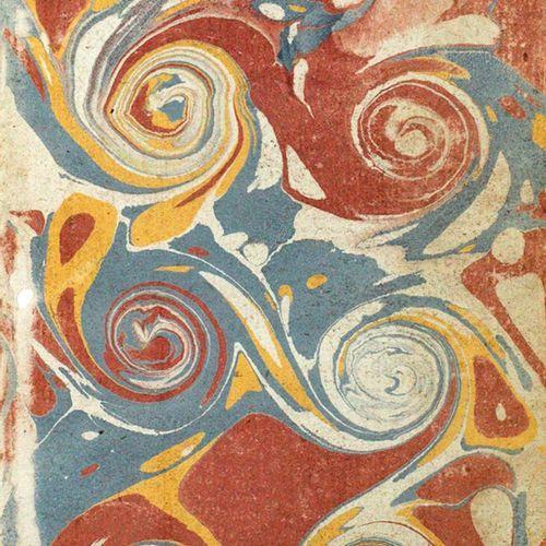 Vorsatzpapiere. 收集了46张末页,18世纪下半叶,8°。Jwls. 安装在pp.上。松动。