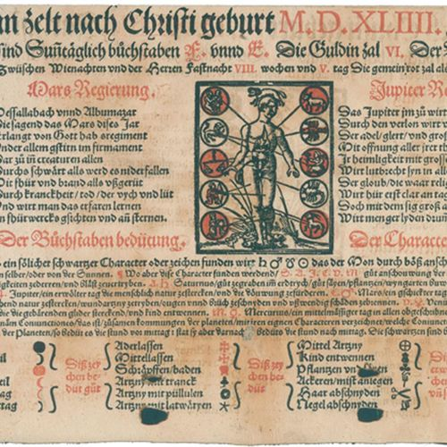 Kalender. (So) man zelt nach Christi geburt M.D.XLII. Jar.(片段)。)O. O.,博士和年份(可能是苏…