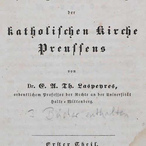 Laspeyres,E.A.T. Histoire et constitution actuelle de l'Église catholique de Pru…