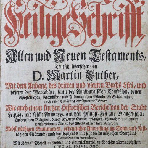 Biblia germanica. Biblia, c'est à dire l'intégralité des Saintes Écritures de l'…