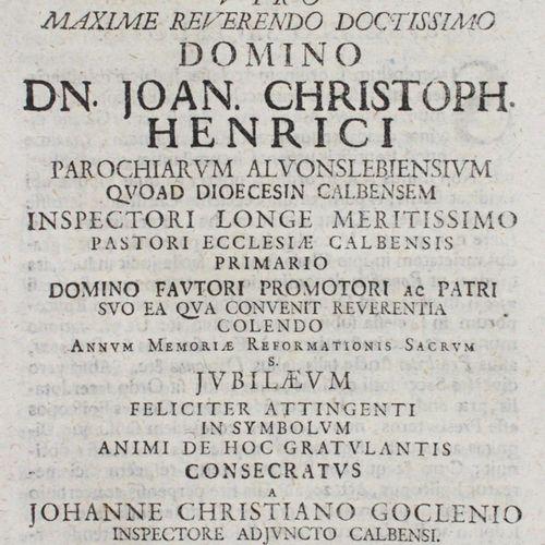 Goclenius,J.C. Syncellus Sacerdotis Viro Maxime Reverendo Doctissimo Domino Dn. …