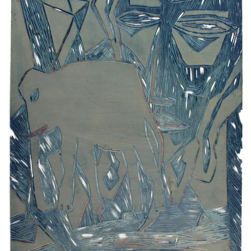 Süß,K. Candelaria (titre de couverture). Ensemble de 5 feuilles de dessins origi…