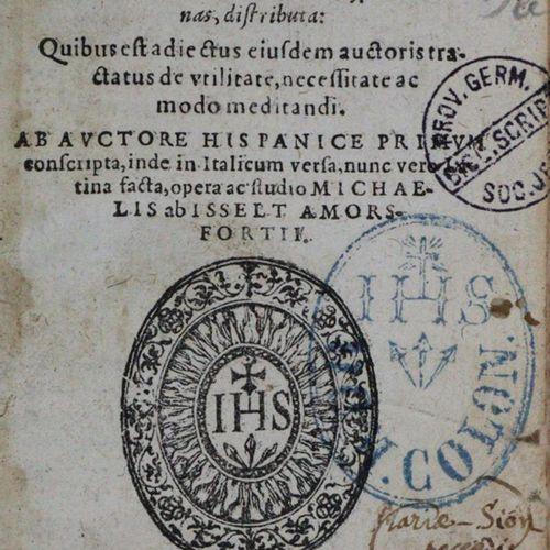 Luis de Granada (Ludovico Granatensis). Exercitia. Cologne, Mylius 1598. 12°. 24…