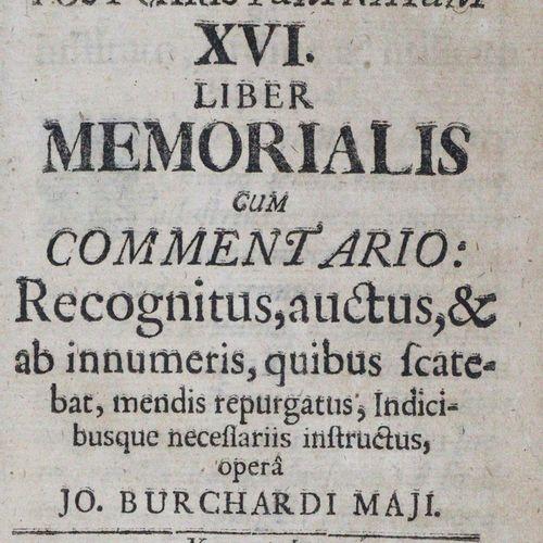 Boecler,J.H. De rebus seculi post christum natum XVI. Liber memorialis. Cum comm…