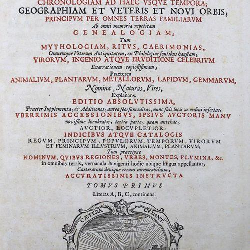 Hofmann,J.J. 通用词典》...第1 3卷(第4卷)。莱顿1698年。有了GEST。前面。Ldrbde. D.(封面松动(第1卷),更多的是磨损和摩擦…