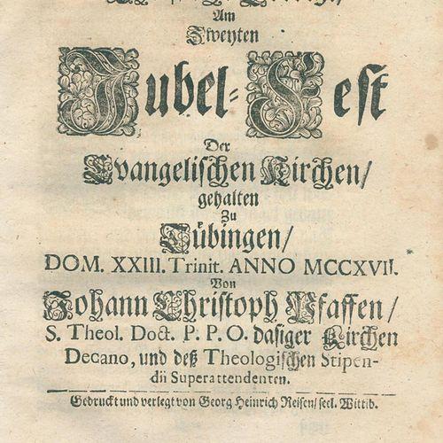 Pfaff,J.C. 基督教布道, Am Zweyten Jubel Fest Der Evangelischen Kirchen, gehalten Zu T…