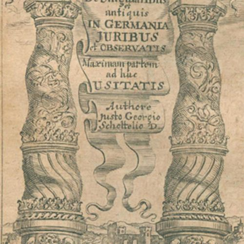Schottelius,J.G. De Singularibus quibusdam & antiquis in Germania Juribus & Obse…