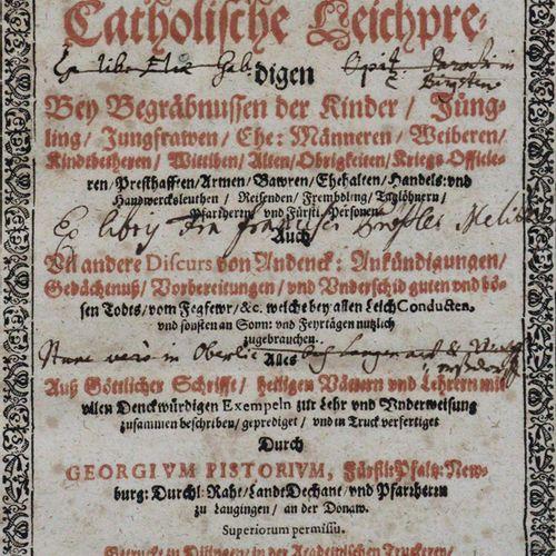 Pistorius,G. Lamentations générales ou : Sermons catholiques aux funérailles d'e…
